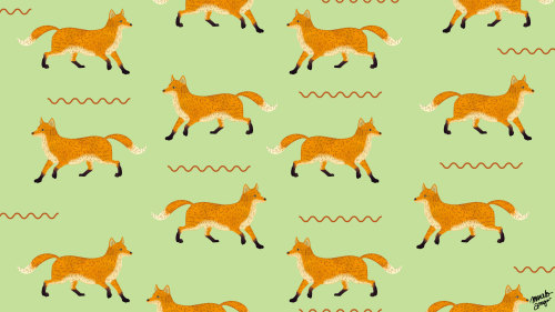 vermillons:  Fox pattern by Marcelo Amigo.
