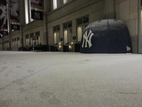 sportsnetny:  A light dusting of snow in the Great Hall tonight (via @YankeesPR)
