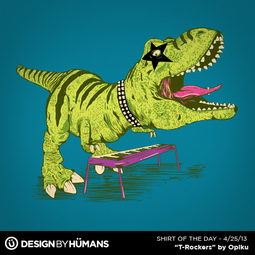 """T-Rockers"" by Opiku On sale today $15 @ http://bit.ly/ShirtOfTheDay"