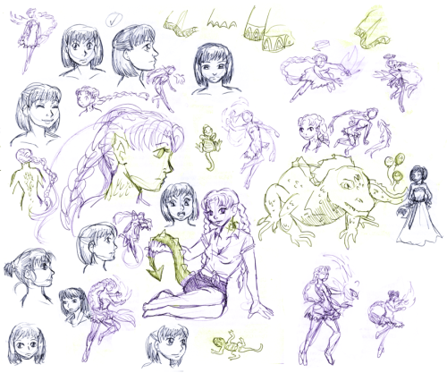 BICP - Jany, Kara Lynn Sketchpile by *SailorPtah Some of the aforementioned sketches for Jany Balachandran and Kara Lynn, the Iguana. (Or just Lizard.) You can see their final designs in the aforementioned makeouts. _____ Comic | Facebook | deviantART | Blog