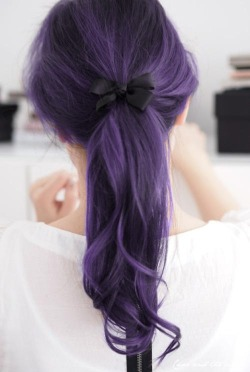 Beautiful violet hair.
