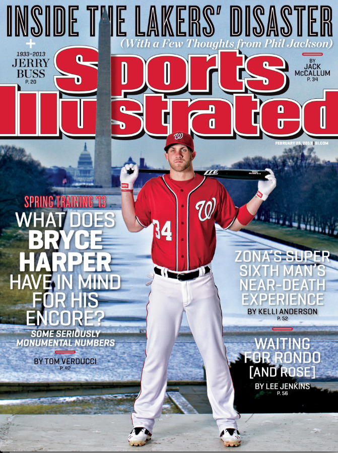 Pic: Bryce Harper gets the cover of Sports Illustrated this week.