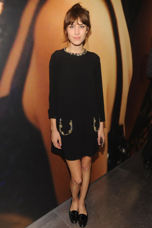 "chung-alexa:  ""Alexa Chung, wearing Miu Miu, attends Catherine Martin And Miuccia Prada Dress Gatsby Opening Cocktail on April 30, 2013 in New York City."""