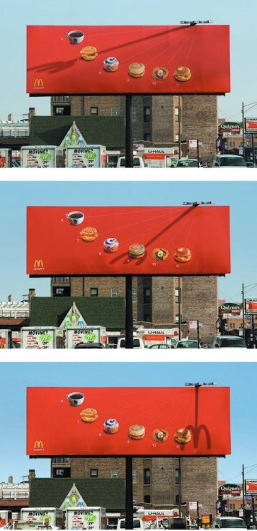 Clever McDonald's Billboard Uses A Shadow Fork To Tell You What To Eat follow asbradesignblog on Facebook