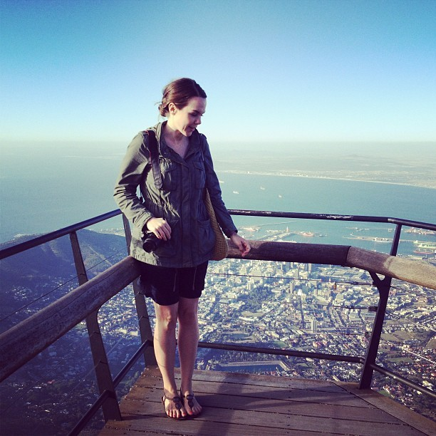 Surveying the beauty of Cape Town from the top of Table Mountain. Stunning views!