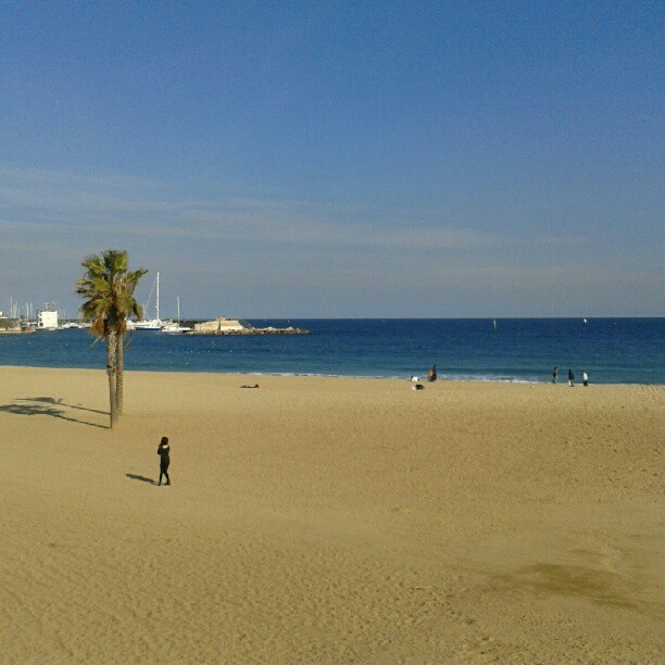 21°C…. jus' sayin… #barcelona #beach #sun #holiday #sea #seaside