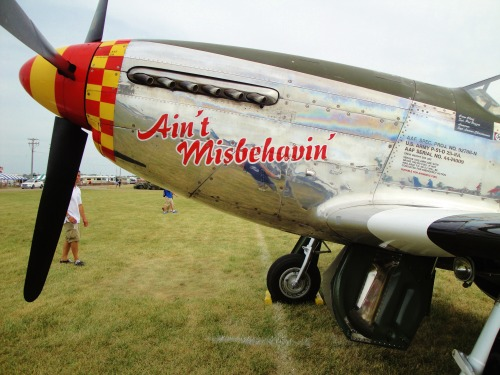 Ain't Misbehavin'  Oshkosh 2012 Hey, that's me in the nose!