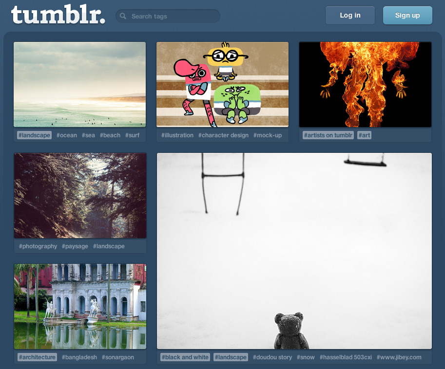 kateoplis:  The Webby Awards Announces its Nominees Tumblr: Websites / Website Features and Design / Best User Experience Do the right thing and vote here.