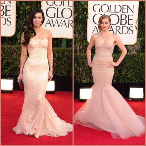GOLDEN GLOBES 2013 - RED CARPET NUDE LACE Megan Fox - Dolce e Gabbana Amy Adams - Marchesa