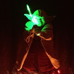 yoda tree topper, proof @m_owens1 loves me!
