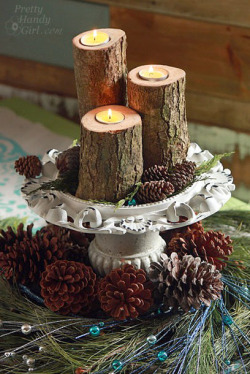 Log Tea Light Pillar Candles auf We Heart It. http://weheartit.com/entry/50200729/via/kaijanveera