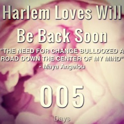 Blog update: The next phase of Harlem Loves is under construction. Thanks to everyone who's patiently supported the transition :) x #blognews