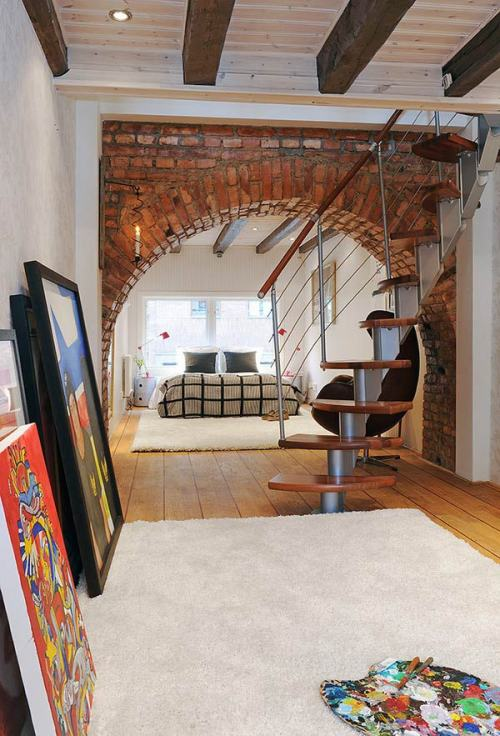 designed-for-life:  Interior Brick Arch