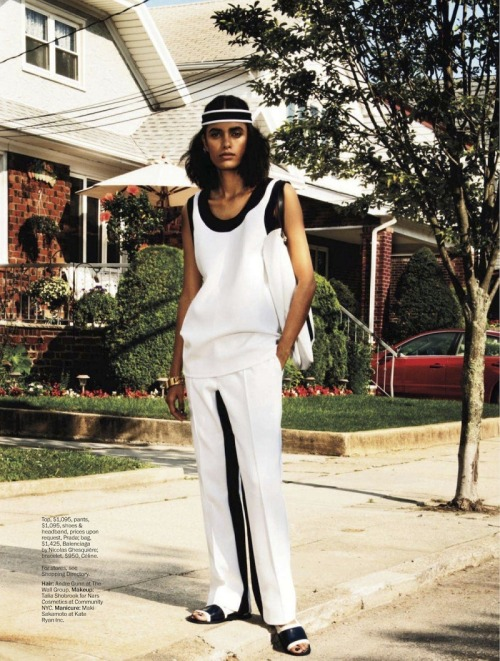 "Lakshmi Menon in  ""Curb Appeal"" for Marie Claire December 2012, photographed by David Schulze"