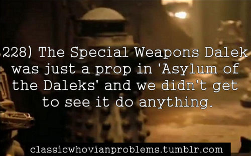 Yeah, when I heard the Classic Daleks would be in it, I was hoping they'd actually do something.