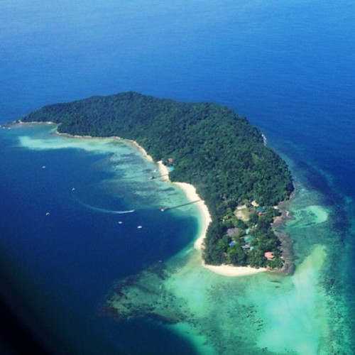Took it from the plane as we were landing in Kota Kinabalu, Malaysia. Beautiful!