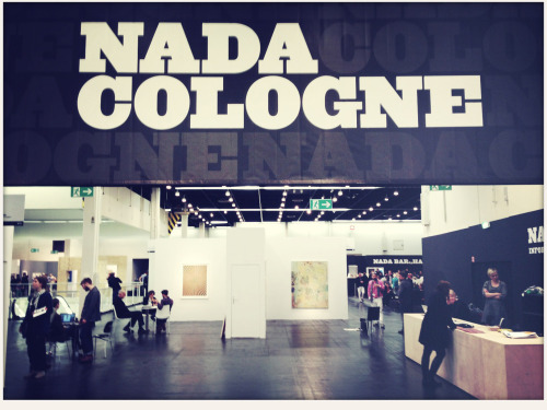 with my mum at the nada/artCologne. but i couldn't find any piece of art for under 100euros.