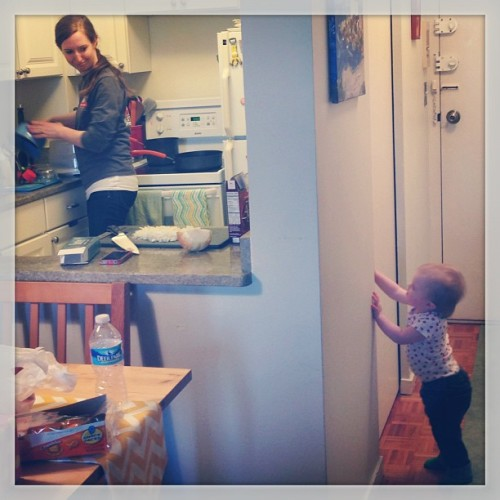 AJ tries to break into Auntie Hannie's kitchen. #baby