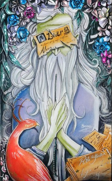The Liar- Harry Potter Fanart (Dumbledore)