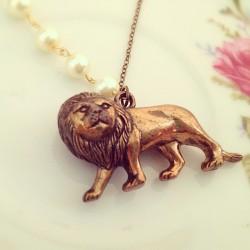 Rawr #lion #jewelry #etsy #handmade #necklace