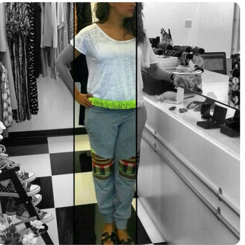 #regram @lavish_kw wearing out #comfy #inca #pants and Kookara Makara #croptop love
