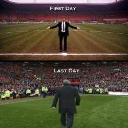 9gag:  First and last day of Sir Alex