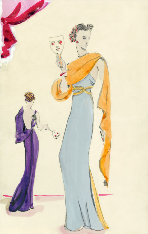 A Schiaparelli Illustration, circa 1935. Love!