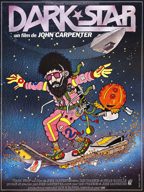 phasicdb:  wabisabiforrobots:  humanoidhistory:  French poster for Dark Star, 1974, directed by John Carpenter.  AUTOMATIC REBLOG!  Poster art by Lynch Guillotin.