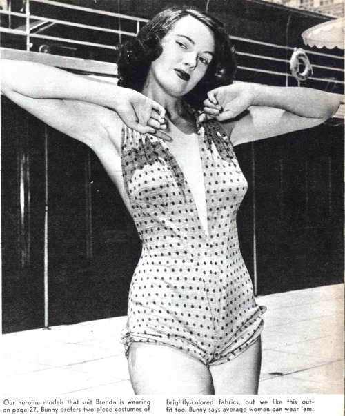 (via CAREER GIRL | Modern Mechanix | Page 3)  Bunny Yeager