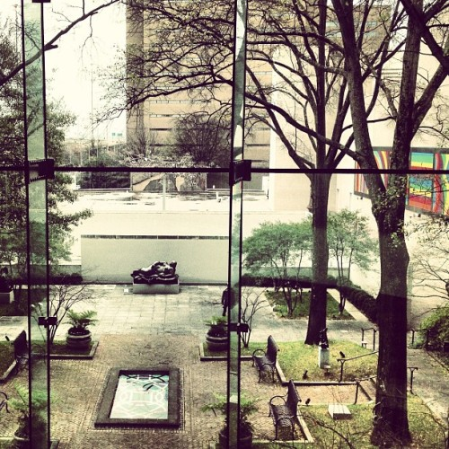 View from inside Birmingham Museum of Art. Love this little spot. #art #museum #Birmingham #alabama