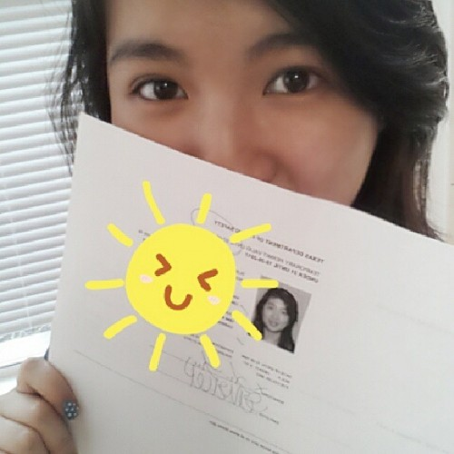 I PASSED WOOHOO! I finally got my permit :3 #permit #finally #watchout! #driving