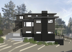 Candlelight Residence Bend. In Progress. This is a new 3600 square foot house to be built this spring on a sloping lot in the City View neighborhood of Bend. The house is designed to step down with the lot and take advantage of views and sunlight to the south. Construction will begin shortly - stay tuned for some progress photos. General Contractor: Bright Oak Homes Structural Engineer: Woodchuck Engineering