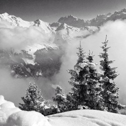 Nothing better than a great day in the #mountains #snow #skiing #morzine #blackandwhite  (at Pointe de Nyon)