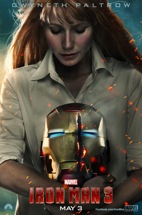 Love this poster.  via marvelentertainment:  Check out Pepper Potts (Gwyneth Paltrow) in this new poster for Marvel's Iron Man 3 from Empire Magazine!