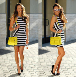lookbookdotnu:  More Stripes and Brights (by Jessica R.)