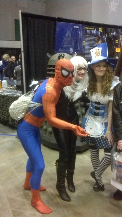 Spider-Man, Catwoman, and Alice at St Louis Comicon 2013