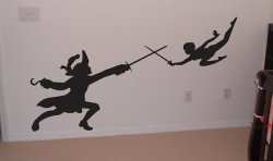 heckyeahdisneymerch:  Peter and Hook wall decals!