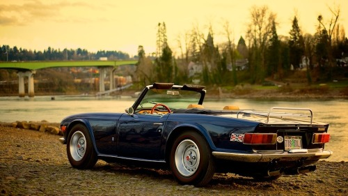 vintageclassiccars:  Triumph TR6 - no car for hairdressers.