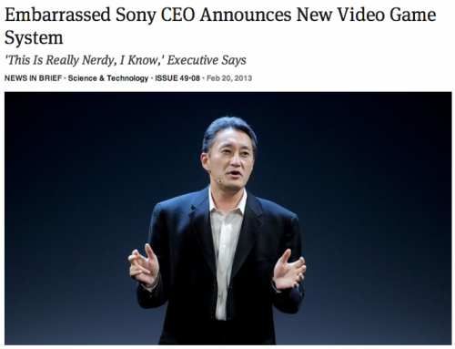Embarrassed Sony CEO Announces New Video Game System |  'This Is Really Nerdy, I Know,' Executive Says: Full Report