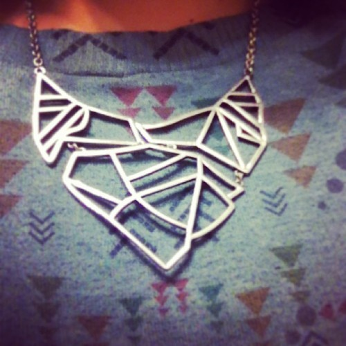 What do you see? #abstract #necklace #love