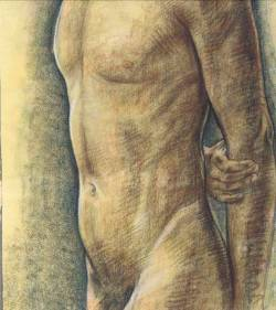 mrsramseysshawl:  Rudolf Bonnet (Dutch, 1895-1978), Male Torso. Pastel.