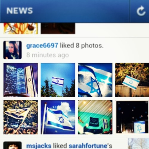 living vicariously through my israeli instagram friends today. happy 65th Israel! ❤🎉🔯 #יוםהעצמאות #ישראל #דגל