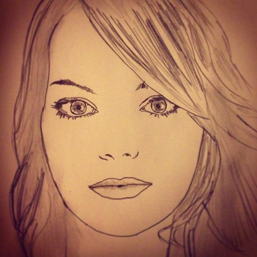 "#sketchaday - Day 328: ""Emma"" #request #portrait #EmmaStone #GangsterSquad #CrazyStupidLove #AmazingSpiderman #Zombieland"