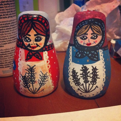 Done the salt shakers for my mom :) me and @alexandrathegreat