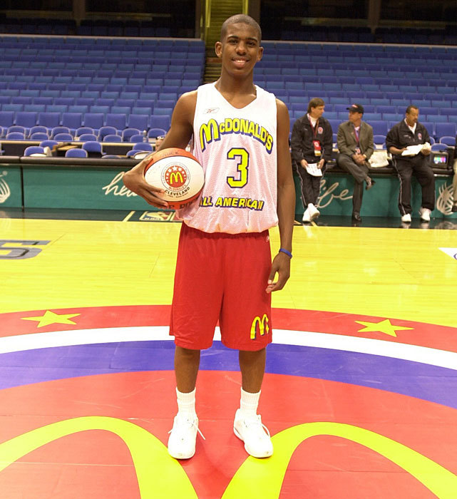Chris Paul poses before the 2003 McDonald's All-American Game. (Courtesy of McDonald's) GALLERY: History of McDonald's All-American Game