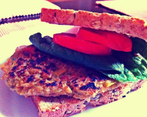 chick pea patty… dans fav via #BeFunky iPhone http://goo.gl/jy6LM