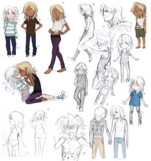 "coffeepott:  aei-sb:  Some more doodles from last week!That's it, these are the only ones ""decent"" enough to share as they are. The rest could work with lots of editing, but sadly I don't have much time right now. Aaanyways.. Have more childish/girly ygo babies…![Poor guys look completely OOC, but I swear I have good reasons, kinda!][Hahaha, I didn't notice I forgot to give Marik his boots, he's barefoot in almost every one! ♥]  You remembered Ryou's scaaaars <33  Yes! I love them ♥"