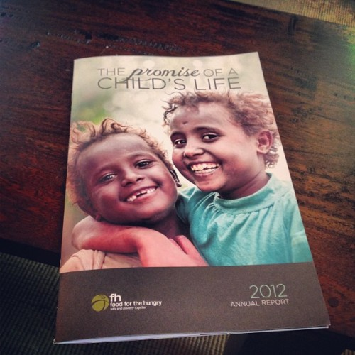 Just got to read @food4thehungry's annual report. Proud of our work and our team. / on Instagram http://bit.ly/10m6b25