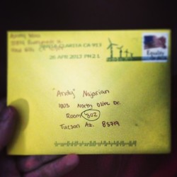Love getting letters from the girlfriend!! ❤💋😘 @ashleyreneemoss  (at University of Arizona)