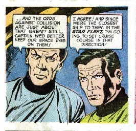 """Space eyes"".  Gawd I love old comics. #StarTrek #Comics"